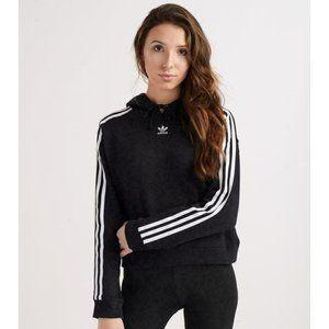 Adidas Women's fleece cropped hoodie Black S NWT